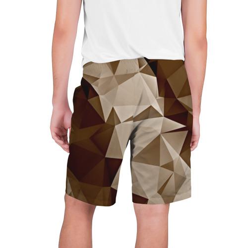 Мужские шорты 3D  Фото 02, Brown geometry