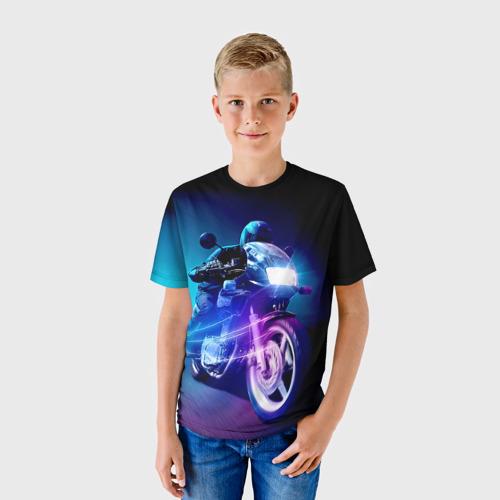 Детская футболка 3D Мотоциклист
