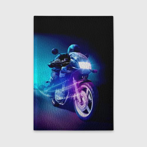 Обложка для автодокументов Мотоциклист Фото 01