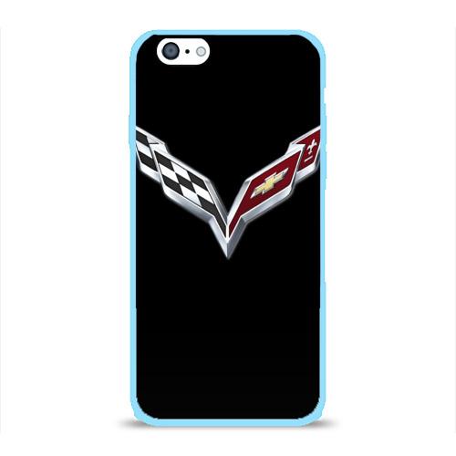 Чехол для Apple iPhone 6 силиконовый глянцевый Chevrolet Фото 01