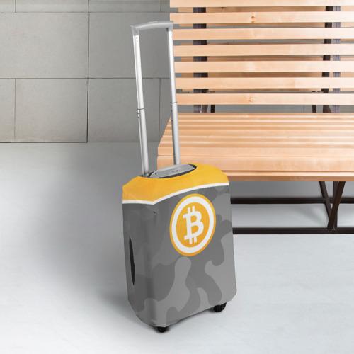 Чехол для чемодана 3D Black Milk Bitcoin - Биткоин Фото 01