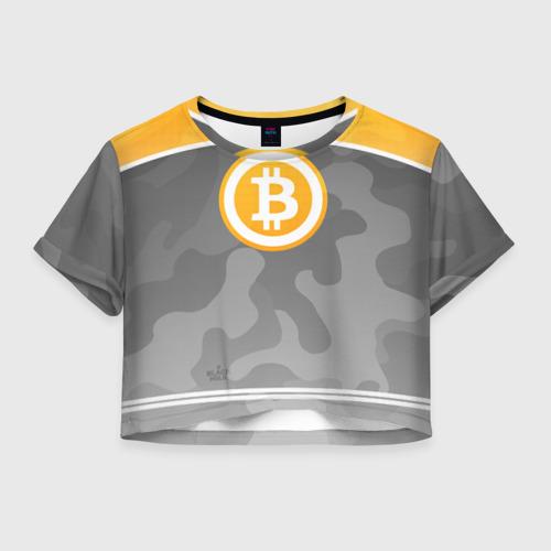Женская футболка Cropp-top Black Milk Bitcoin - Биткоин Фото 01
