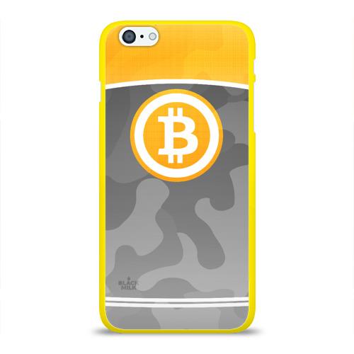 Чехол для Apple iPhone 6Plus/6SPlus силиконовый глянцевый Black Milk Bitcoin - Биткоин Фото 01