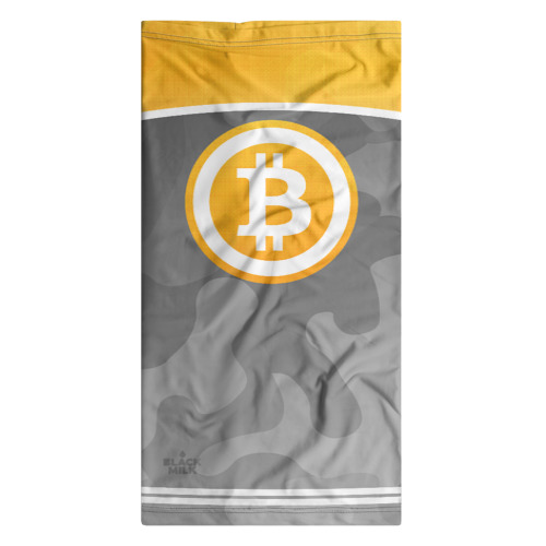 Бандана-труба 3D Black Milk Bitcoin - Биткоин Фото 01