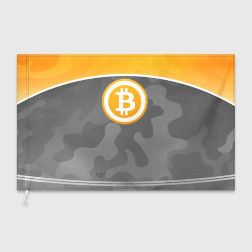 Флаг 3D Black Milk Bitcoin - Биткоин Фото 01