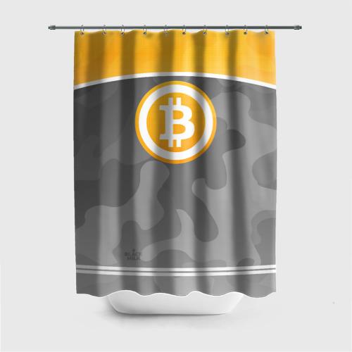 Штора 3D для ванной Black Milk Bitcoin - Биткоин Фото 01