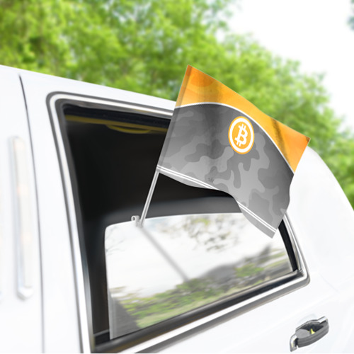 Флаг для автомобиля Black Milk Bitcoin - Биткоин Фото 01