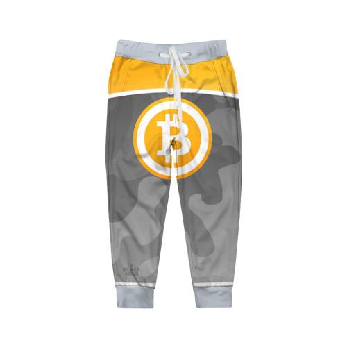 Детские брюки 3D Black Milk Bitcoin - Биткоин Фото 01