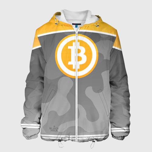 Мужская куртка 3D Black Milk Bitcoin - Биткоин Фото 01