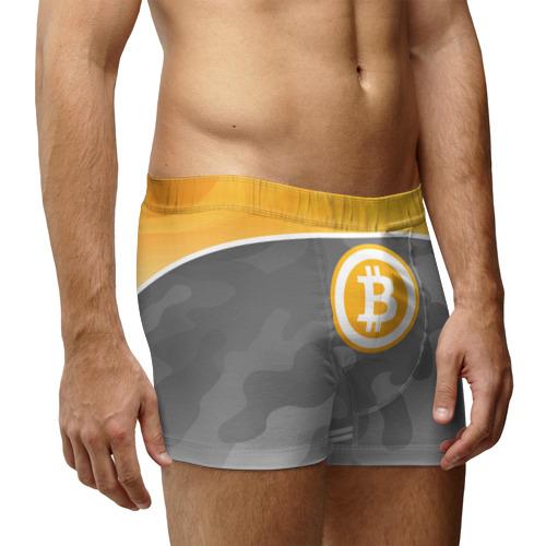 Мужские трусы 3D Black Milk Bitcoin - Биткоин Фото 01