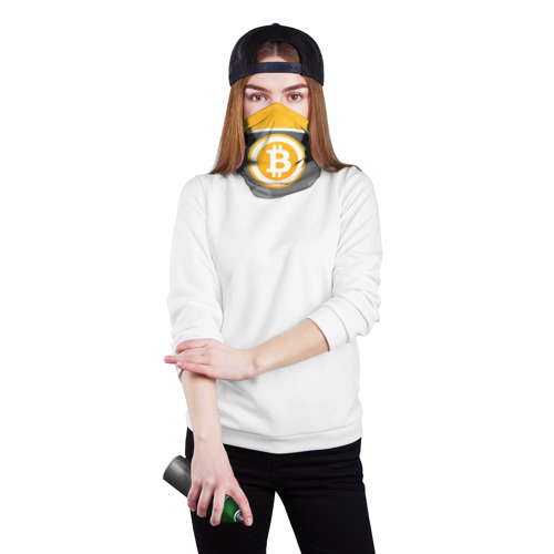 Бандана-труба 3D  Фото 02, Black Milk Bitcoin - Биткоин