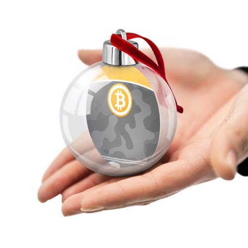 Ёлочный шар Black Milk Bitcoin - Биткоин Фото 01