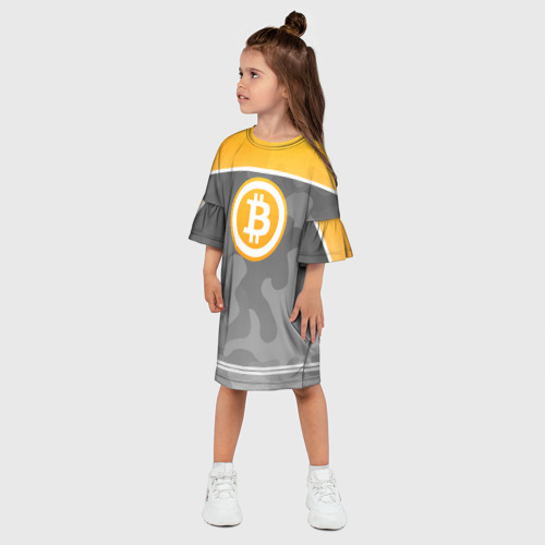 Детское платье 3D Black Milk Bitcoin - Биткоин Фото 01