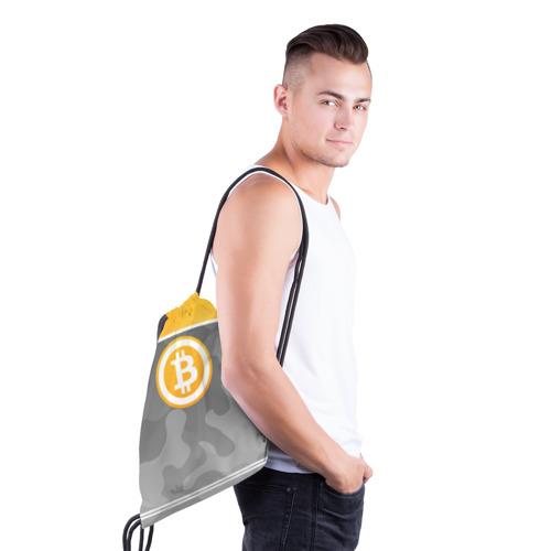 Рюкзак-мешок 3D Black Milk Bitcoin - Биткоин Фото 01