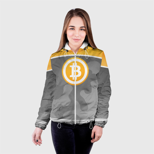 Женская куртка 3D Black Milk Bitcoin - Биткоин Фото 01