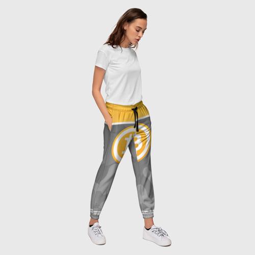 Женские брюки 3D Black Milk Bitcoin - Биткоин Фото 01