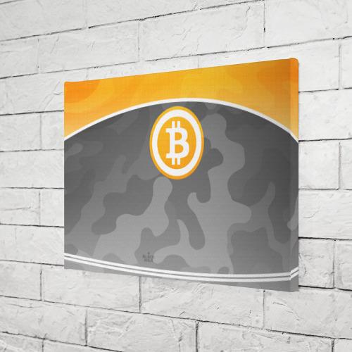 Холст прямоугольный Black Milk Bitcoin - Биткоин Фото 01