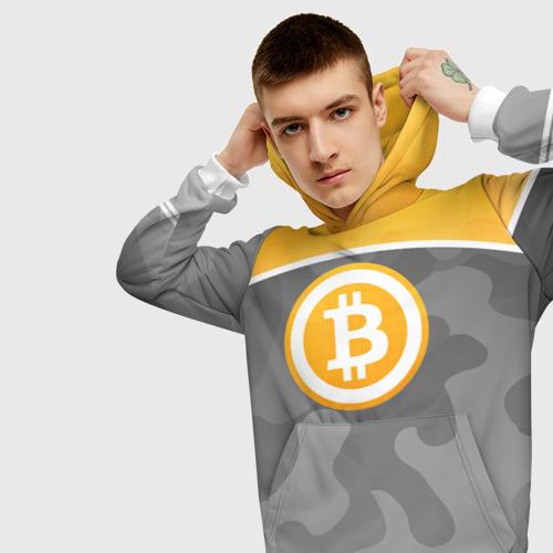 Мужская толстовка 3D Black Milk Bitcoin - Биткоин Фото 01