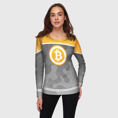 Женский лонгслив 3D Black Milk Bitcoin - Биткоин Фото 01