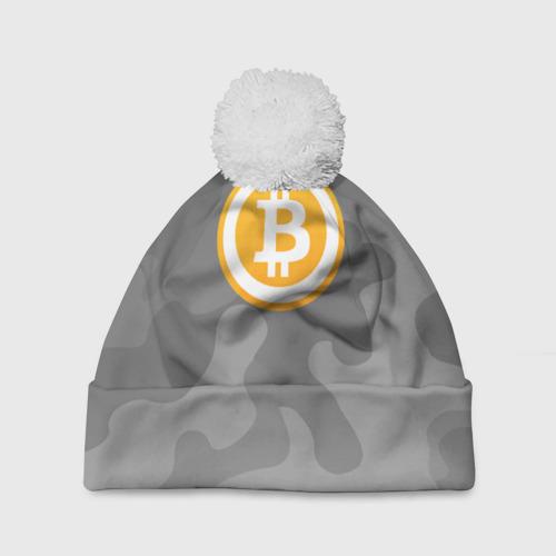 Шапка 3D c помпоном Black Milk Bitcoin - Биткоин