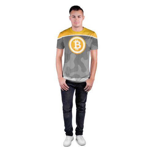 Мужская футболка 3D спортивная  Фото 04, Black Milk Bitcoin - Биткоин
