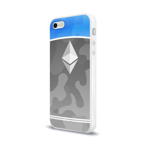 Чехол для Apple iPhone 5/5S силиконовый глянцевый  Фото 03, Black Milk Ethereum - Эфириум