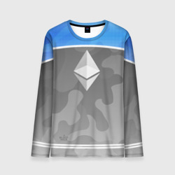Мужской лонгслив 3D Black Milk Ethereum - Эфириум