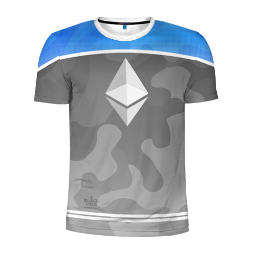 Мужская футболка 3D спортивная Black Milk Ethereum - Эфириум