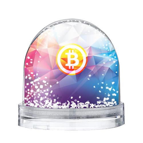 Водяной шар со снегом Биткоин - Bitcoin Geometria