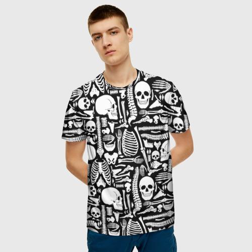 Мужская футболка 3D Кости Фото 01