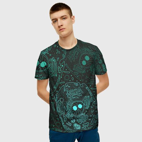 Мужская футболка 3D Клетки Фото 01