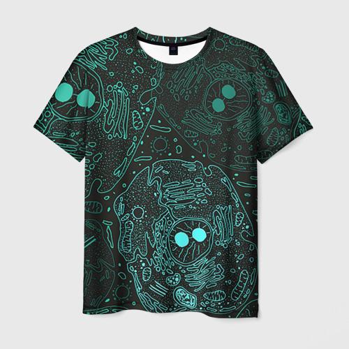 Мужская футболка 3D Клетки