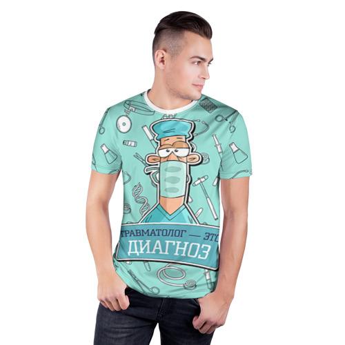 Мужская футболка 3D спортивная  Фото 03, Травматолог