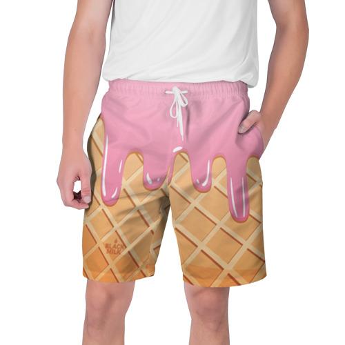 Мужские шорты 3D  Фото 01, Black Milk Мороженое Стаканчик
