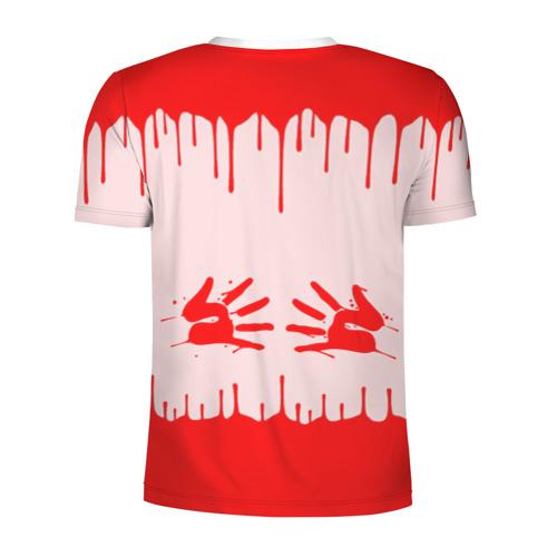 Мужская футболка 3D спортивная  Фото 02, Подтеки краски со следами рук