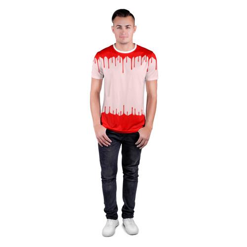 Мужская футболка 3D спортивная  Фото 04, Подтеки краски со следами рук