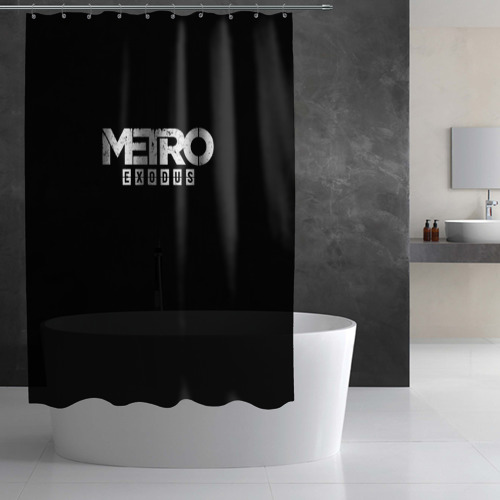 Штора 3D для ванной METRO: Exodus Фото 01