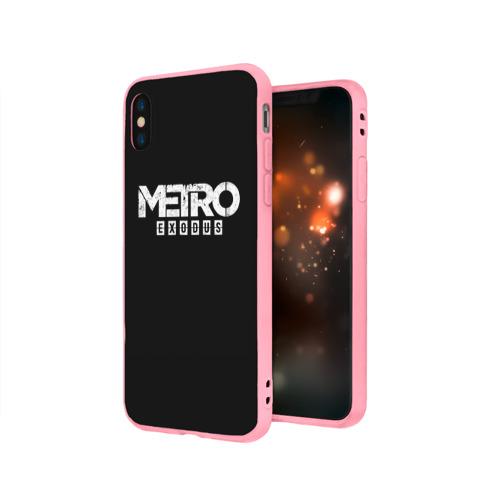 Чехол для Apple iPhone X силиконовый матовый METRO: Exodus Фото 01