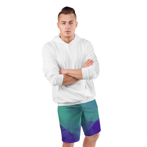 Мужские шорты 3D спортивные  Фото 05, Грани текстуры