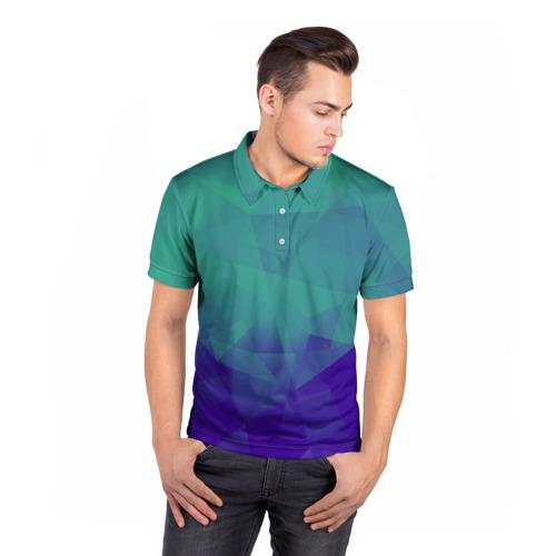 Мужская рубашка поло 3D  Фото 05, Грани текстуры