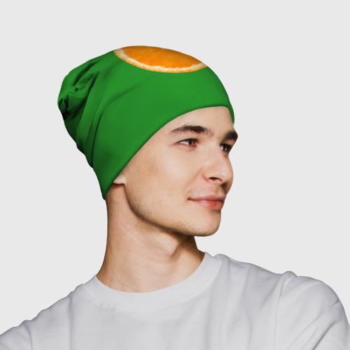Шапка 3D  Фото 02, Низкополигональный апельсин
