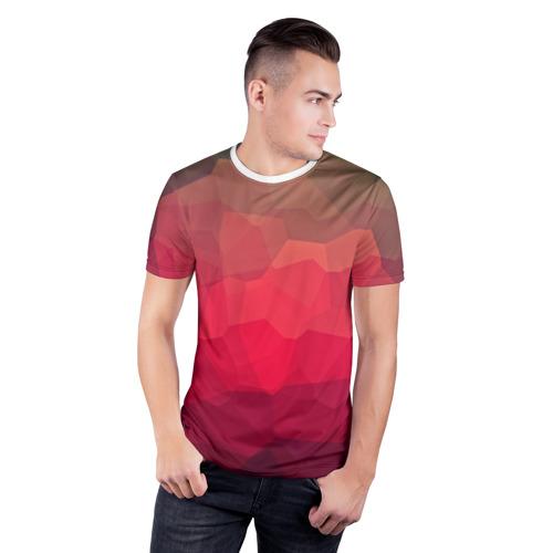 Мужская футболка 3D спортивная  Фото 03, edge abstract