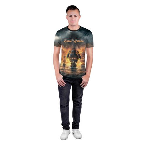 Мужская футболка 3D спортивная  Фото 04, Skull and Bones