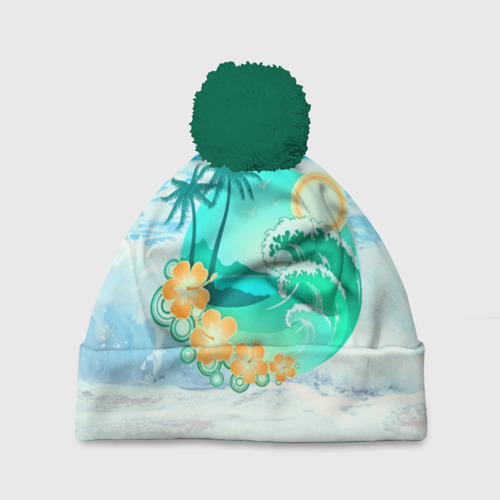 Шапка 3D c помпоном  Фото 01, Пляж