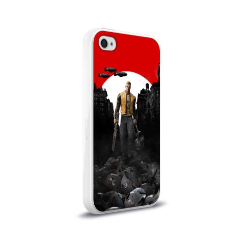 Чехол для Apple iPhone 4/4S силиконовый глянцевый  Фото 02, Wolfenstein 2: The New Colossu