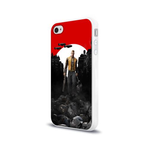 Чехол для Apple iPhone 4/4S силиконовый глянцевый  Фото 03, Wolfenstein 2: The New Colossu