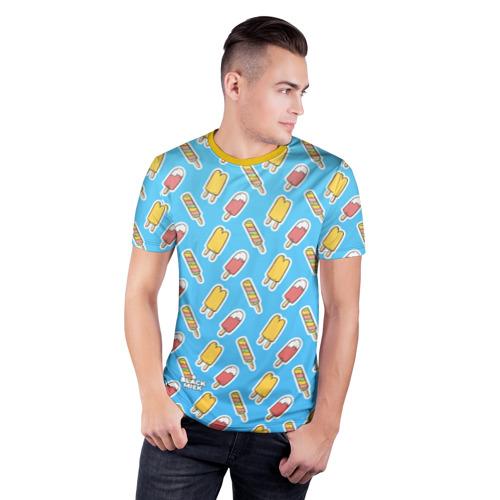 Мужская футболка 3D спортивная  Фото 03, Сладкая Мороженка
