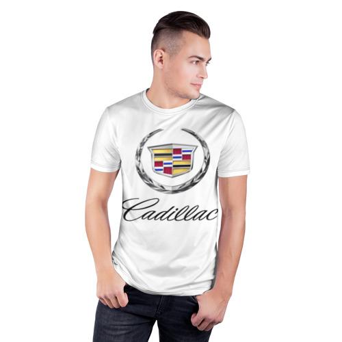 Мужская футболка 3D спортивная  Фото 03, Cadillac