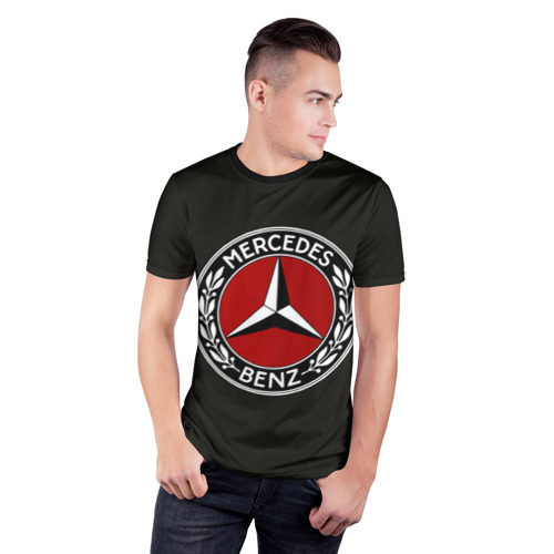 Мужская футболка 3D спортивная  Фото 03, Mercedes-Benz