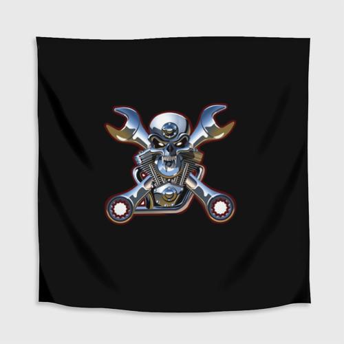 Скатерть 3D  Фото 02, Череп двигатель